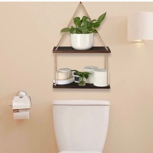 Storage & Organization - 2 Tier Solid Wood Hanging plant Shelves Brand New